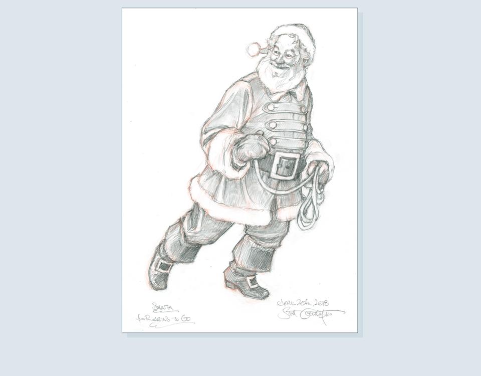 17 - Santa finished drawing