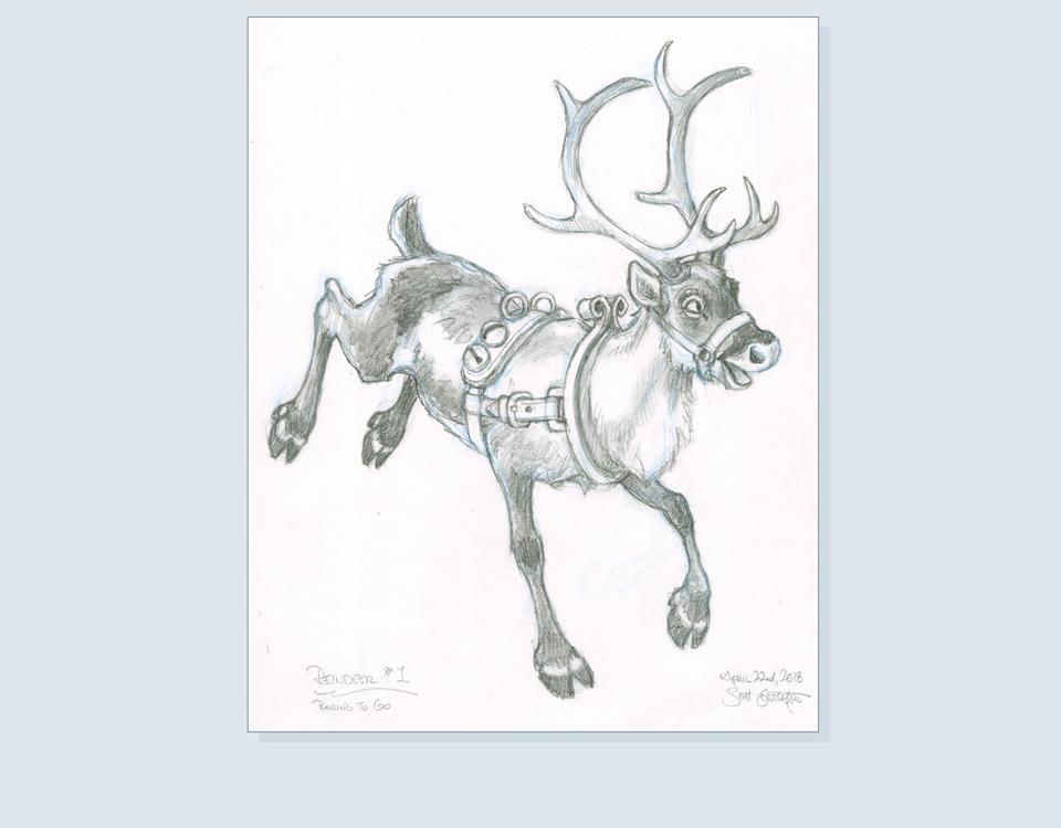18 - Reindeer on left
