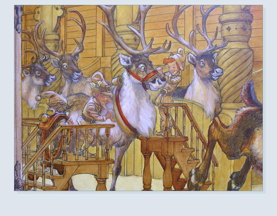 26 - Interior reindeer detail