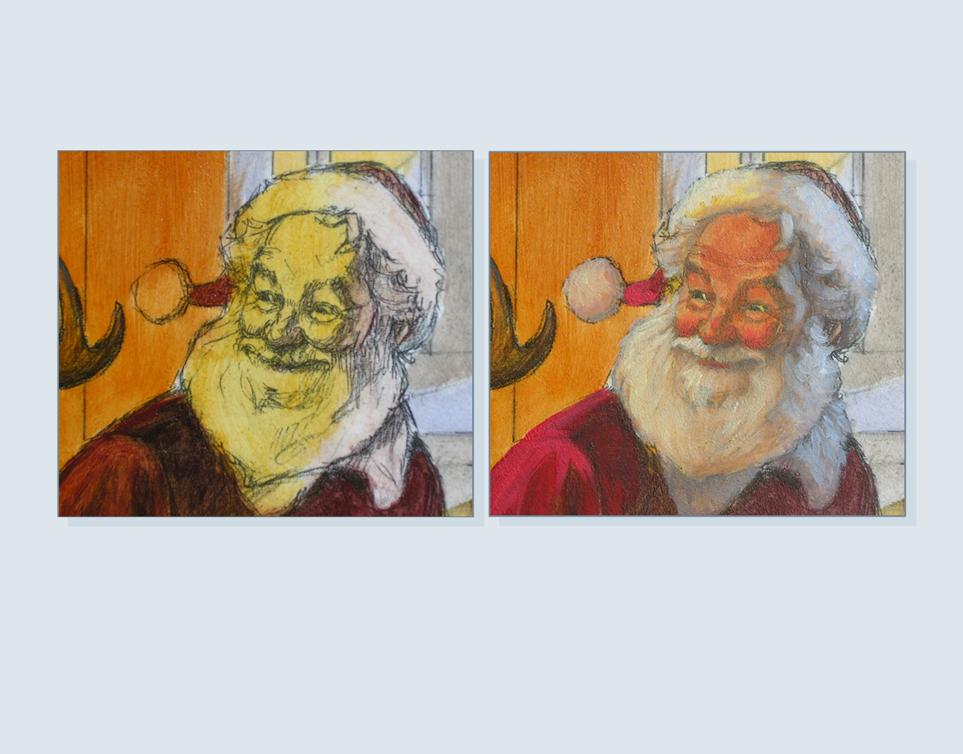 30 - Santa's head so far