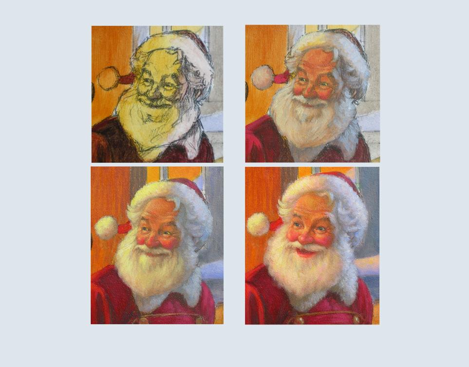 39 - Santa's head progression to final