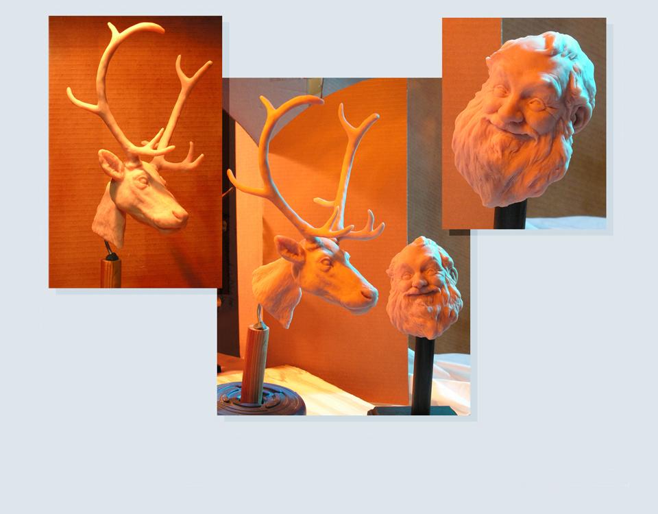 3- Sculpey sculptures