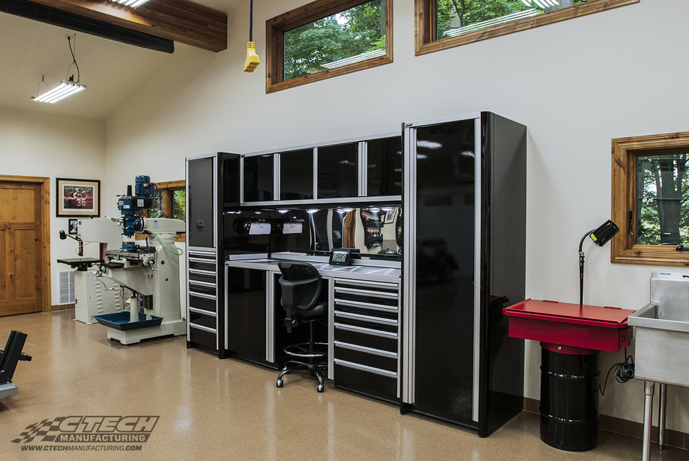 Ultra Series cabinets from CTECH are designed to compliment your workspace in more than one way; with a sleek finish and unbeatable functionality. Frank Brotz's garage looks great with this new CTech unit installed! BOM26909