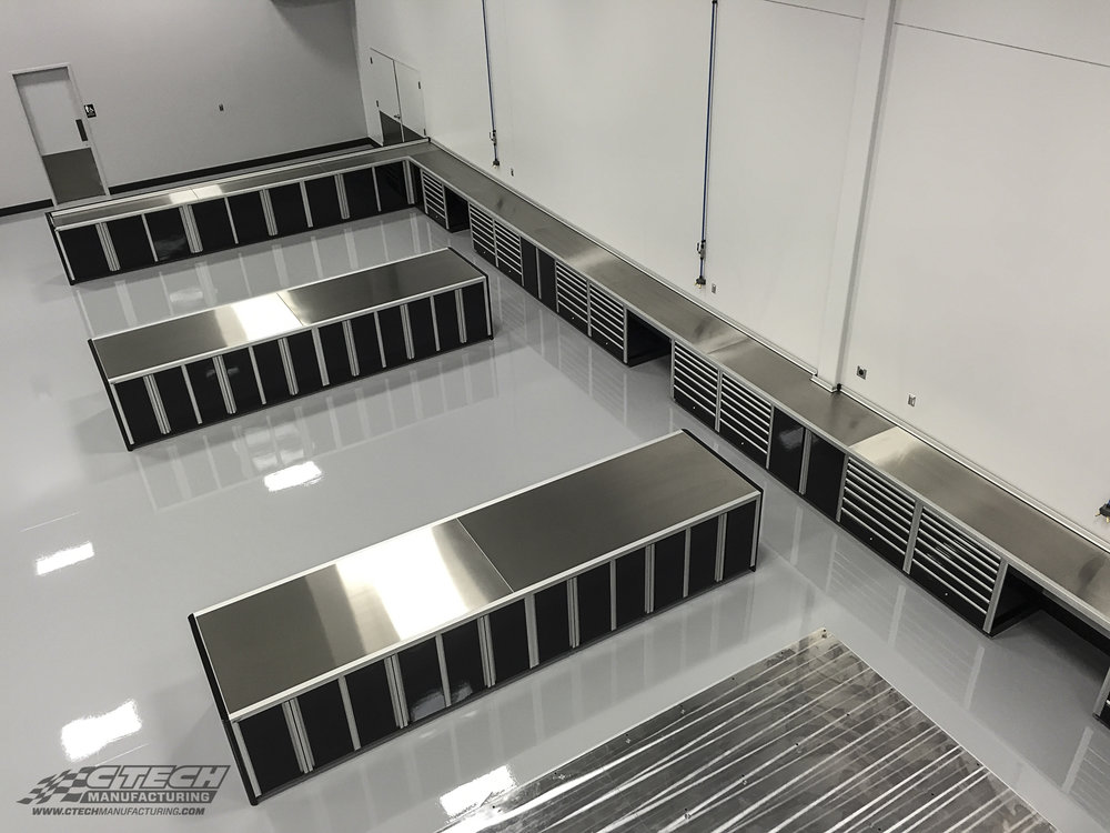 World-class racing teams like HAAS F1 rely on state-of-the art equipment to compete, and that's why they trust CTECH to provide them with shop workspace and storage solutions that are engineered to support a top-tier racing effort. BOM 37903