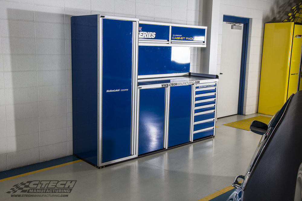 P series cabinet packages from CTECH offer race-proven storage at a lower price, featuring innovative MotionLatch doors and drawers, GasketLoc countertops, and a budget-friendly price! BOM P1008/Q30617