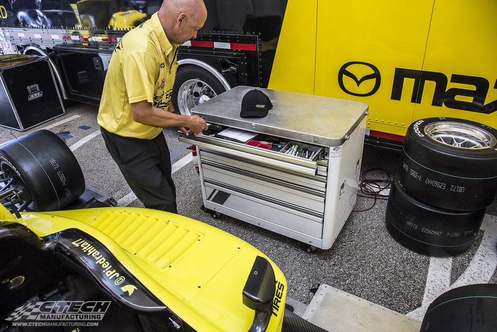 CTECH caster carts are the perfect sidekick for any hands-on professional who's efficiency depends on having the right tools on hand at the right time. Innovative MotionLatch drawers put tools and equipment at your fingertips, and the tough, lightweight unit is extremely mobile.