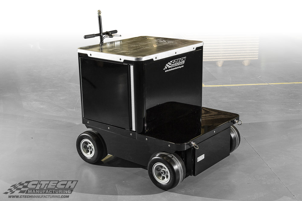 For equipment that's awkward to store and move around, CTECH builds custom carts designed specifically to keep those pieces safe, and ready to work! This cart was built to protect and maneuver suspension tuning/testing equipment.