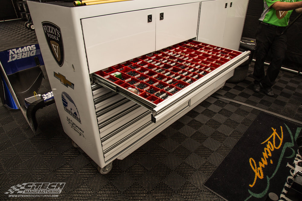 Ed Carpenter Racing wanted to optimize the caster carts they use in their garage, so they opted to install some CTech drawer inserts into the existing opening! You can do the same!