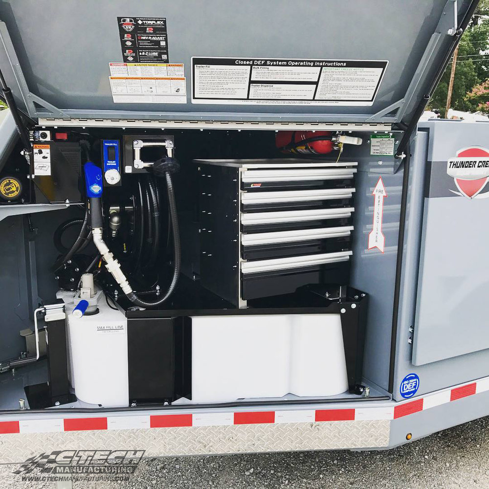 Thunder Creek Equipment makes some of the most innovative multi-purpose tanker trailers in the industry. CTech drawer inserts bring additional, accessible storage to otherwise cramped space.