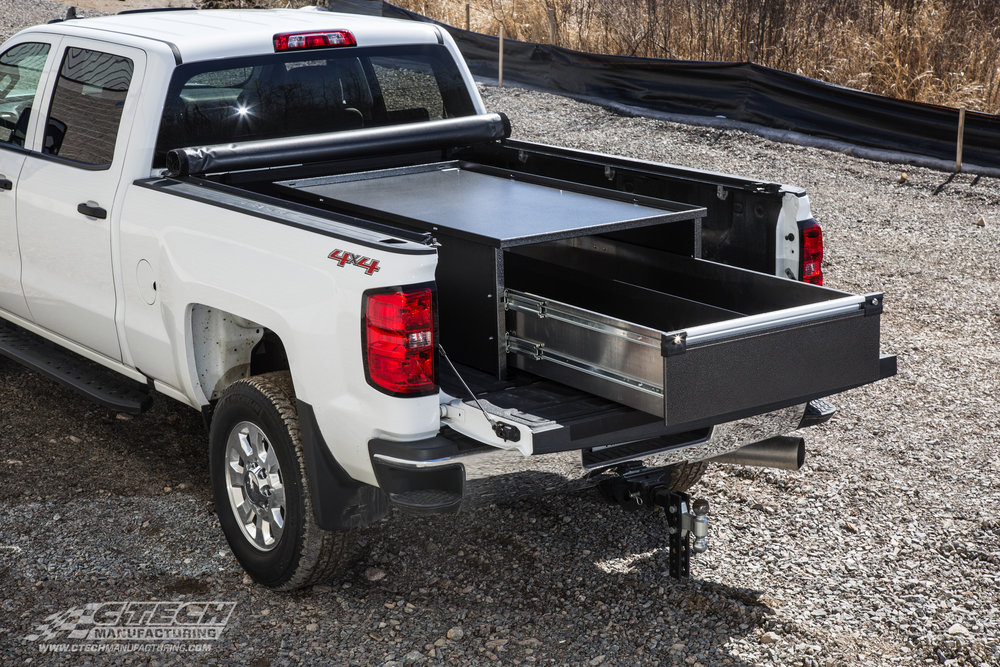 White Chevy Truck Bed Drawer
