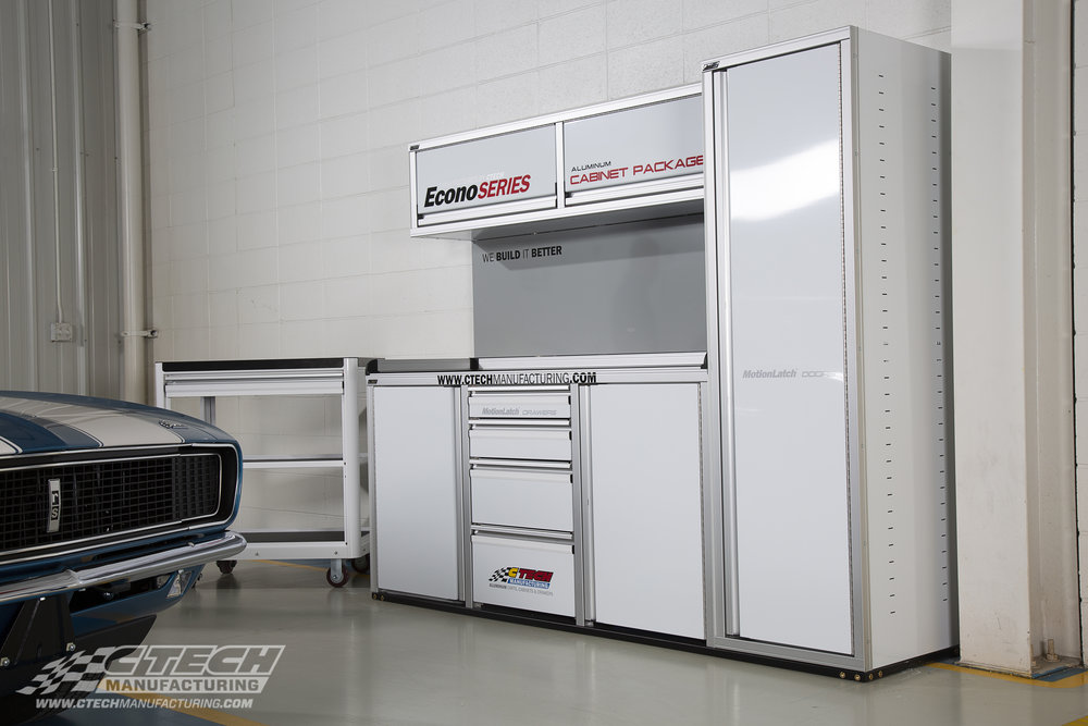 CTECH Econo Series Garage Cabinet Package With Service Cart