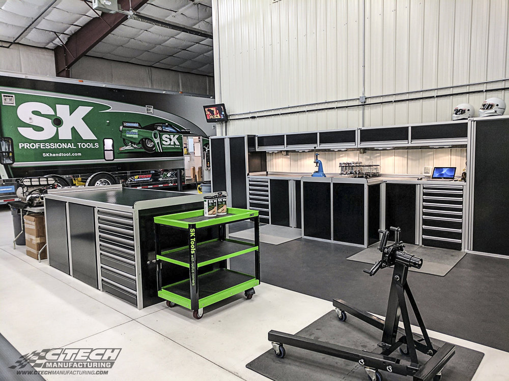 CTECH SK Tool / Hool Brothers Drag Racing Shop Cabinets and Serv