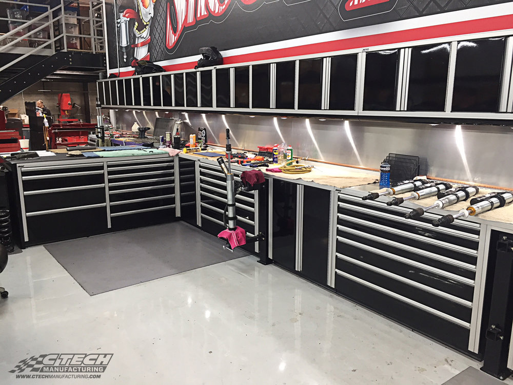 Shock Therapy Main Shop Floor Cabinet Setup