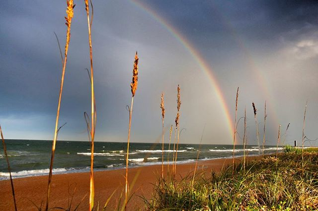 Double Rainbow! Ormond By the Sea, FL. #rainbow #beachlife #florida