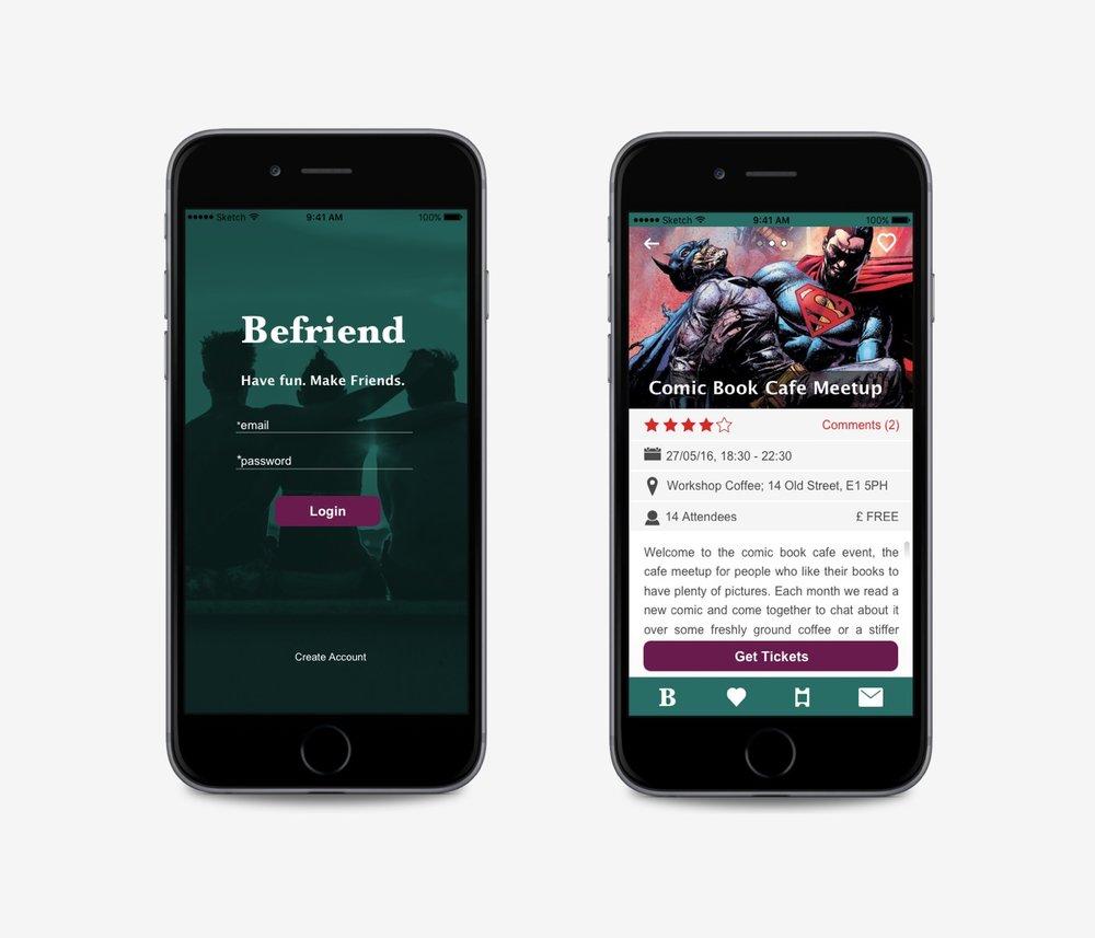 Befriend - Local socialising app