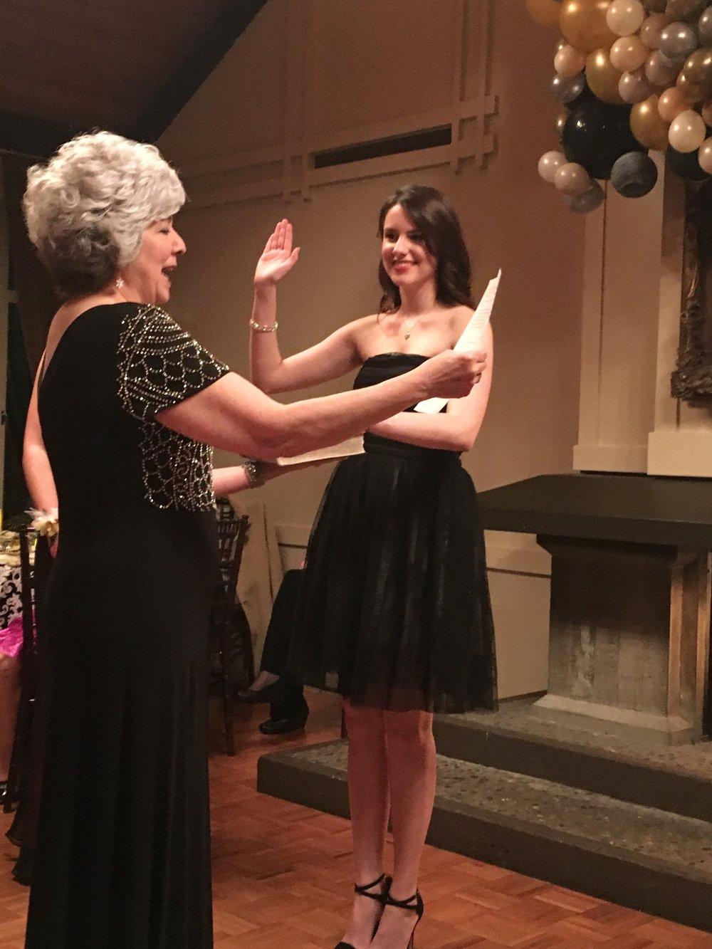 Calli is sworn in as Class Secretary- -