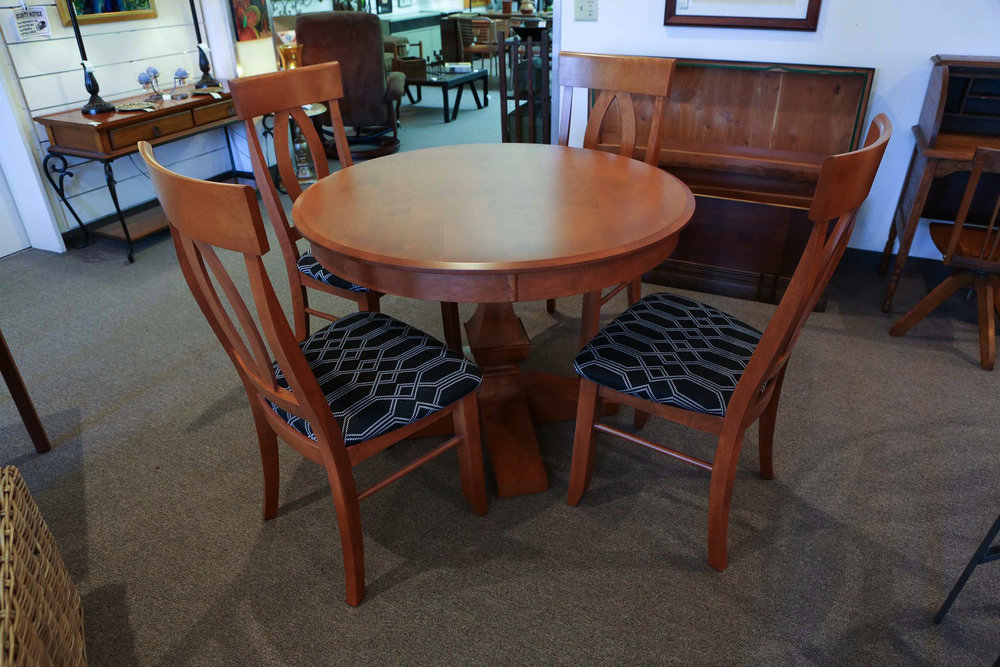 5pc custom wood dining set 8166.JPG