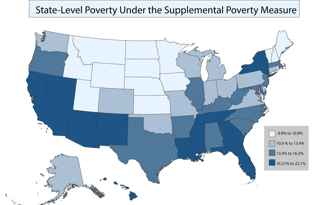 POVERTY ACROSS THE UNITED STATES UNDER THE SUPPLEMENTAL POVERTY MEASURE  FROM THE ANNUAL SOCIAL AND ECONOMIC SUPPLEMENT OF THE CPS 2013-2015