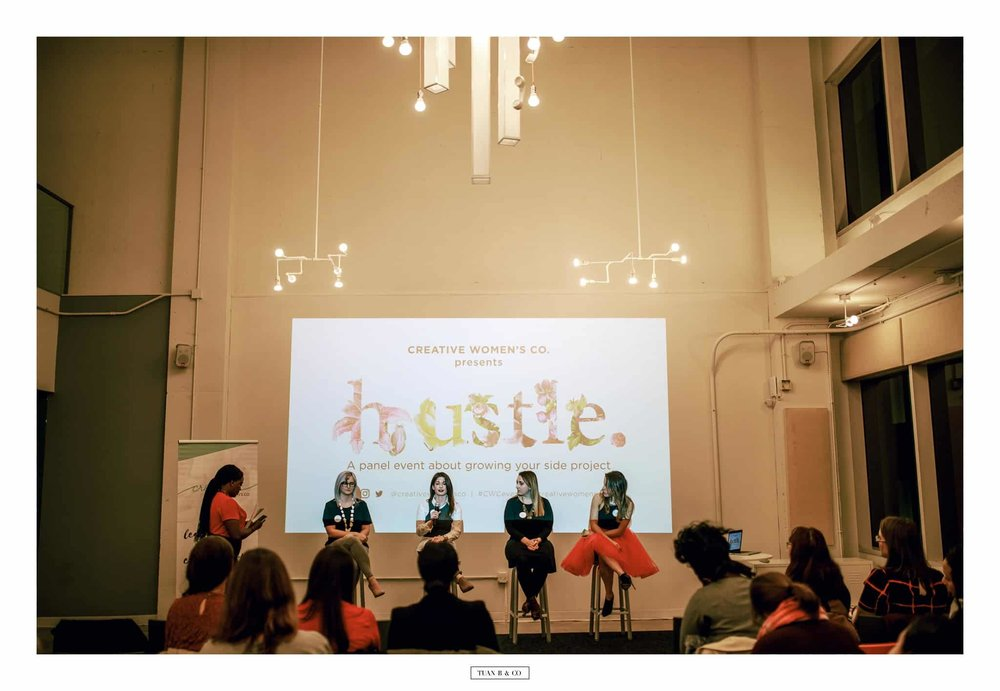 Panelist sharing how I overcome adversity as a woman entrepreneur with Creative Women's Co. ( Read event recap Here )