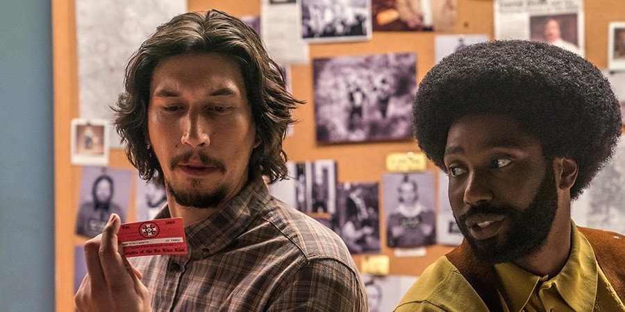 "Adam Driver and John David Washington in ""BlacKkKlansman."" (Image courtesy of Focus Features)"