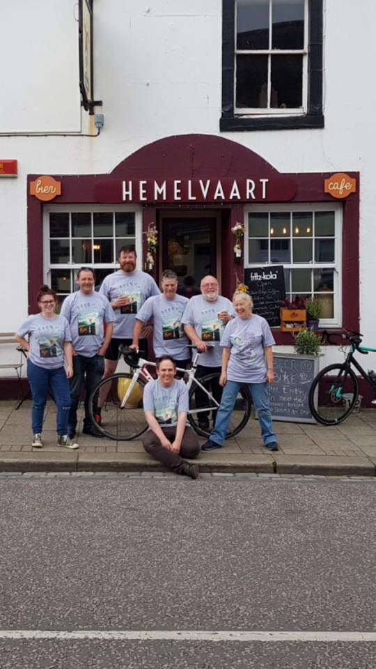Day 4 - Beer by Bike // Day 4. It was a rather pleasant 50 mile ride today from Edinburgh - Ayton...despite a six mile climb! Thanks to my old friend Chris Mair for joining me. We're at Hemelvaart tonight. A brilliant wee place!