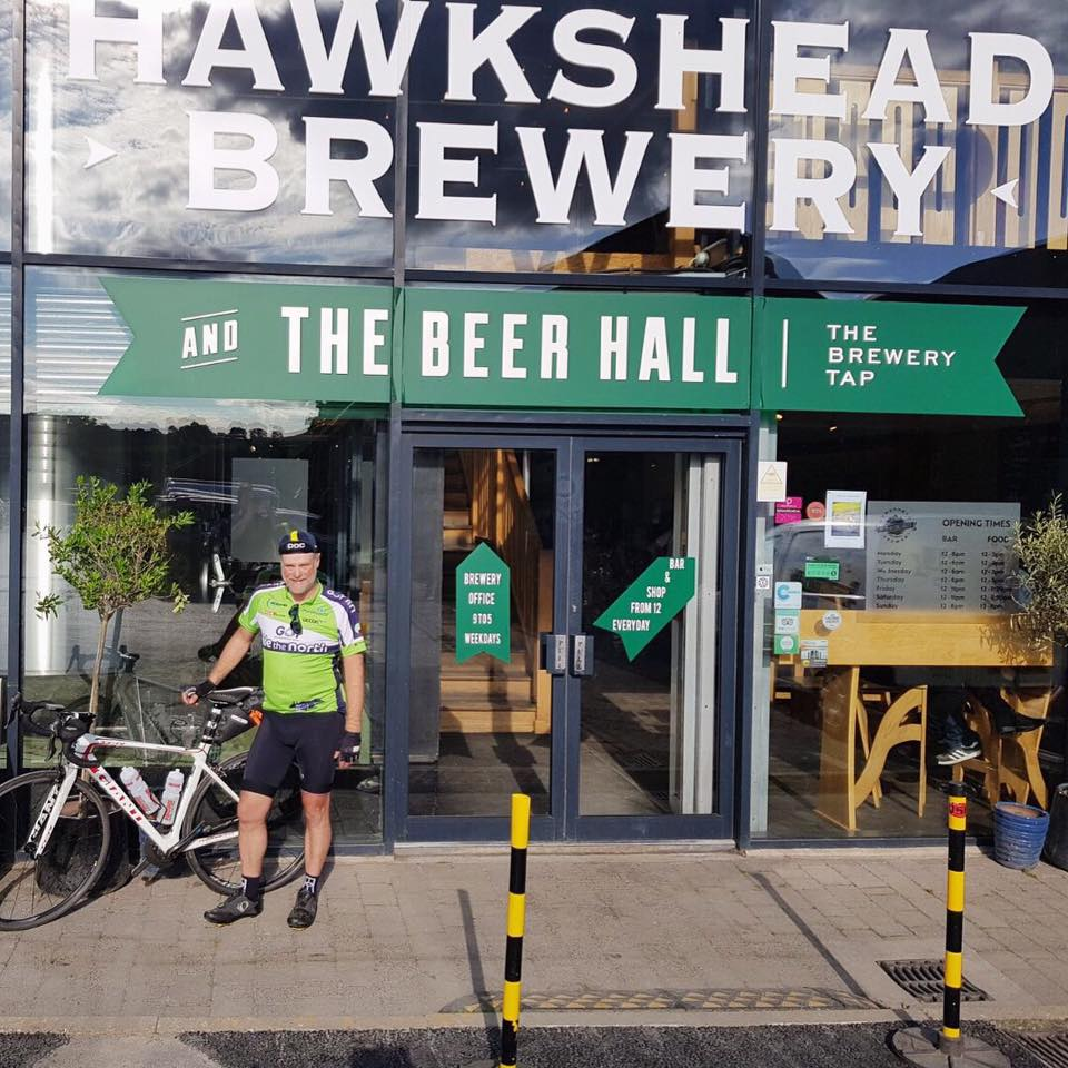 Day 7 - 700+ miles in. Leeds to Staveley. Tough day of hills and steady head winds but the beautiful Cumbrian scenery was the perfect tonic for this weary cyclist! Delighted to be at Hawkshead Brewery tonight!