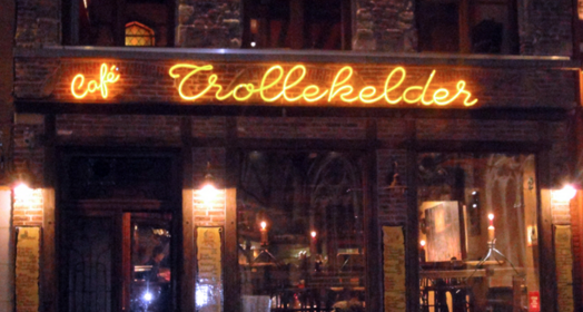 TROLLEKELDER   http://www.trollekelder.be/     Café de Trollekelder is a rustic and cozy Flemish speech bar from the 15th century. Over the years, she has become one of the fixed values of the city of Ghent. With its central location, in the shadow of St Jacob's church, she is easily accessible.