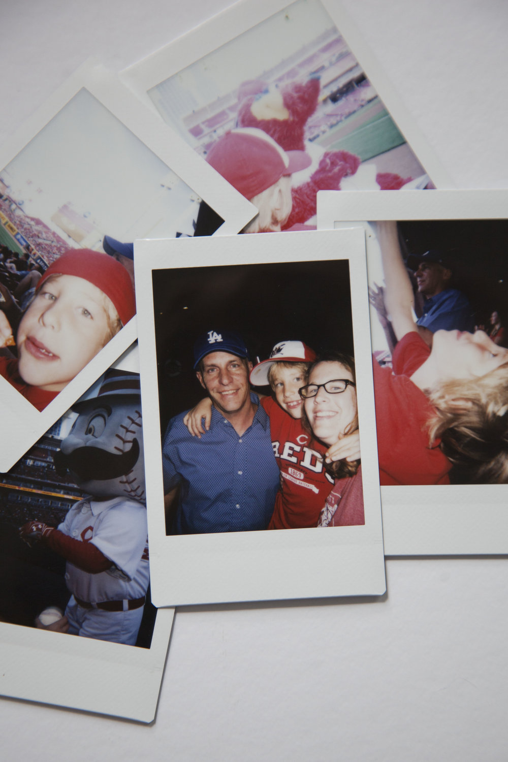 Day 31 - a perfect evening at a Reds Game in polaroids