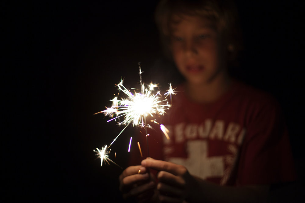 day 35 - sparklers!