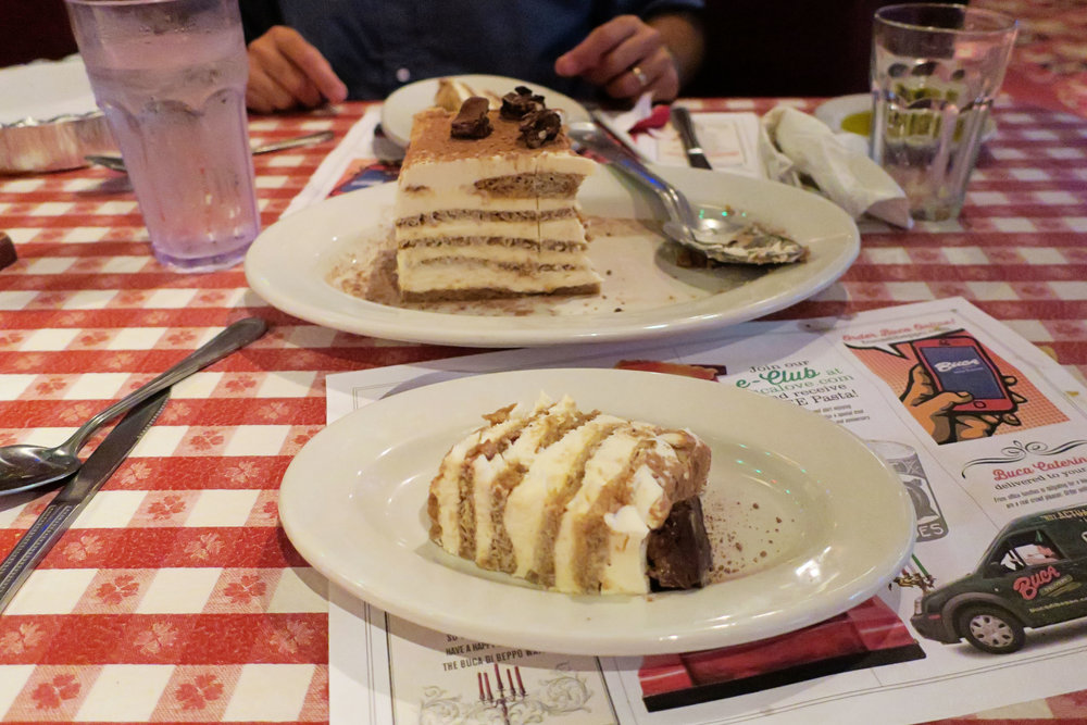 Day 61 - dinner at Bucca di Beppp... meh