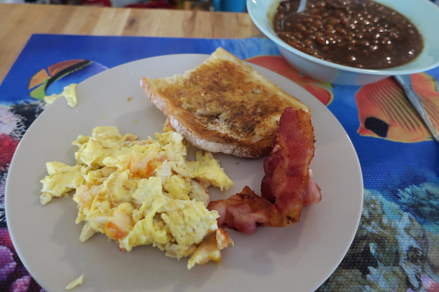 we spent the majority of the morning unwrapping gifts playing with them and making the best christmas breakfast scrambled eggs with the leftover shrimp - Best Christmas Breakfast