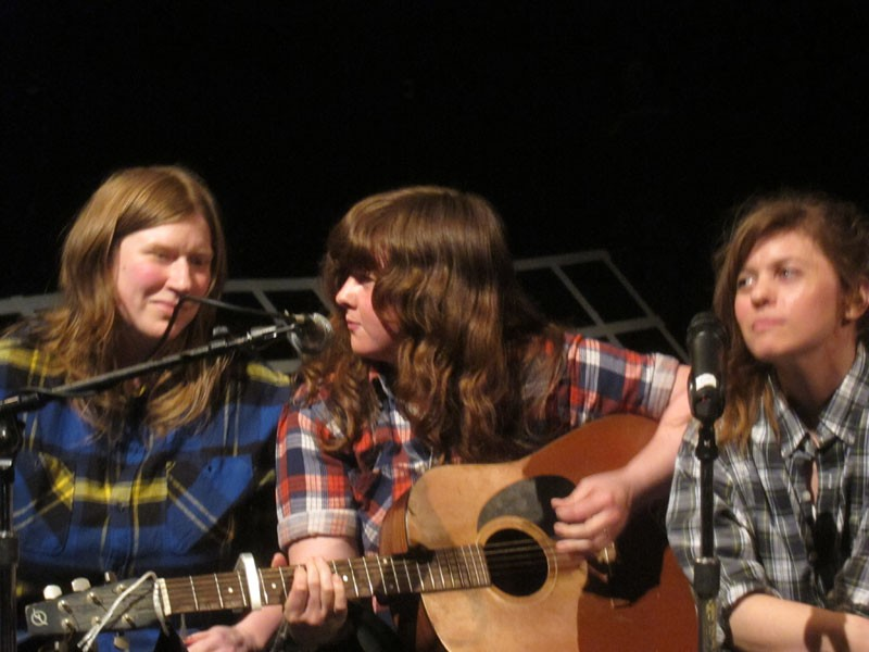 A performance with Becca Albee and Tami Hart in Emily Roysdon's project   (A Gay Bar Called Everywhere (With Costumes and No Practice))   at The Kitchen, May 7, 2011.   We sang Hazel Dicken's classic feminist folk song,   Don't Put Her Down (If you helped put her there).