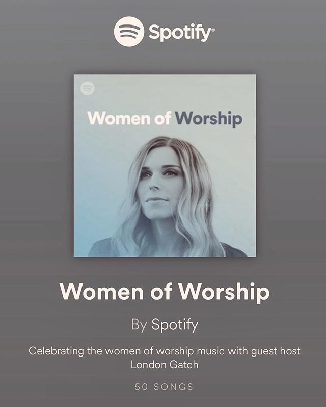SO excited and honored to be hosting the WOMEN OF WORSHIP playlist by @spotify ❤️ • i got to put together a list of some of my FAV worship leaders!! these ladies are powerful! it's such a joy for me to get to cheer them on, AND my prayer is that women around the world will feel empowered to lead worship with the confidence and authority they have in Jesus!! His power and mighty Spirit is inside each one of us 🙌🏽 thank you Lord!!