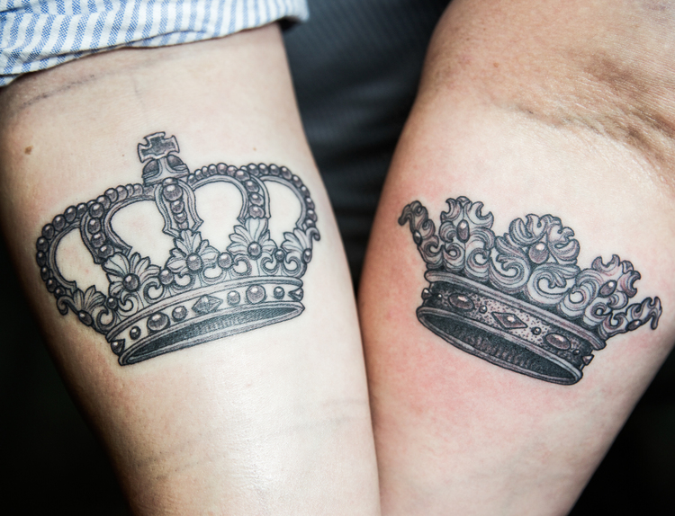 his and hers crown ejay tattoo