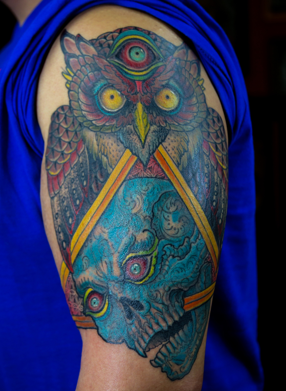 Owl and Skull enrique bernal ejay tattoo.jpg