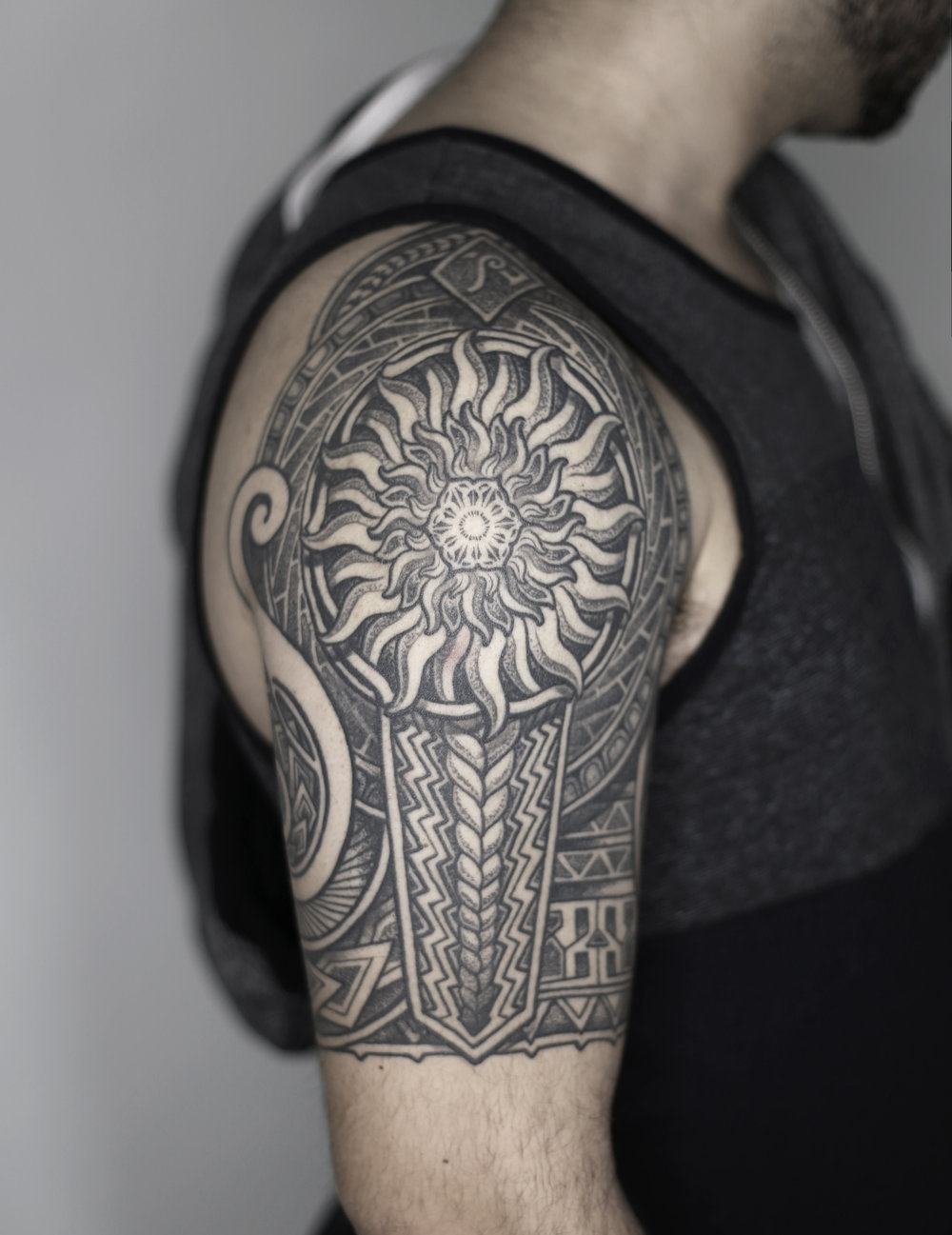 mike tattoo singleton tattoo dallas texas ejay tattoo pattern stipple tribal tattoo samoan tattoo polynesian ink jason call.jpg