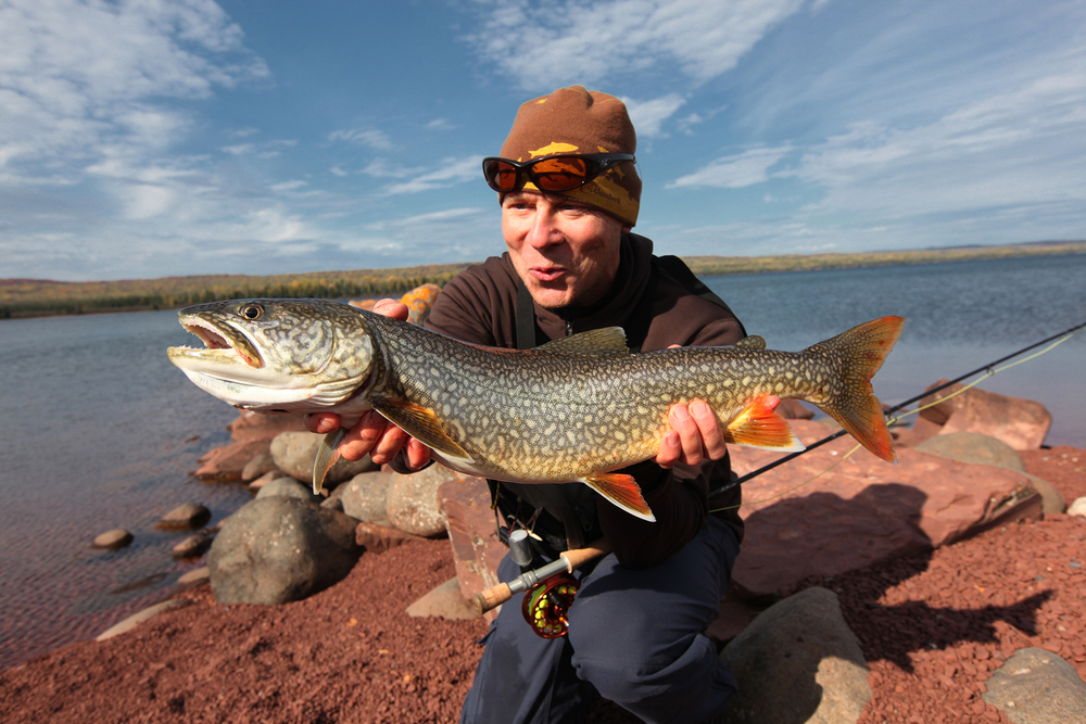 Jim and a Lake Trout