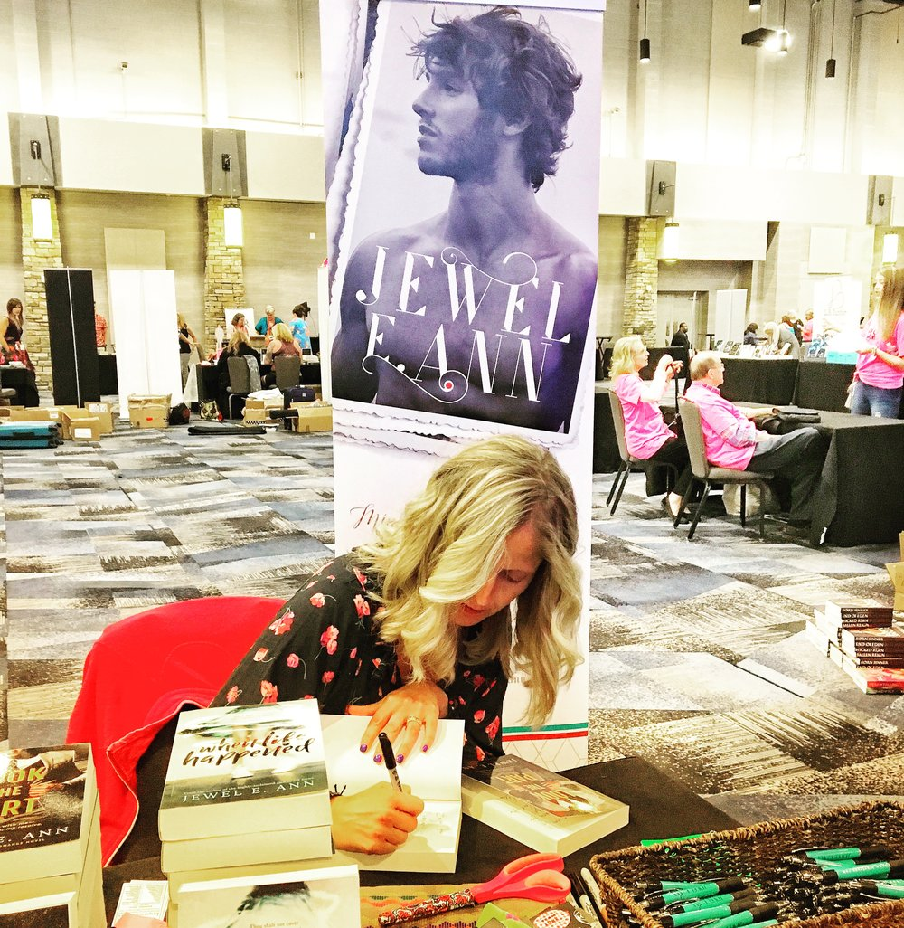 Eventually ... I came down.  - Book Bonanza 2018. Wow! What can I say? I met Jonesies and ... other readers! WTF? Yes! I have more than 5 people who read my books. I was BLOWN away. On Friday, from 8-midnight, I had a line at my table. Not one sip of water, not one potty break. I fought back tears on several occasions, luckily I was too dehydrated to squeeze out a single watery emotion.