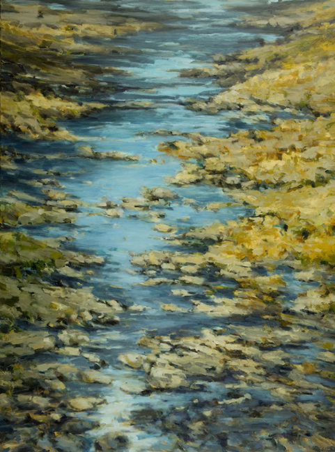 """Sunlight Dancing Along a Stream"" by Dolores Justus (c)2009"