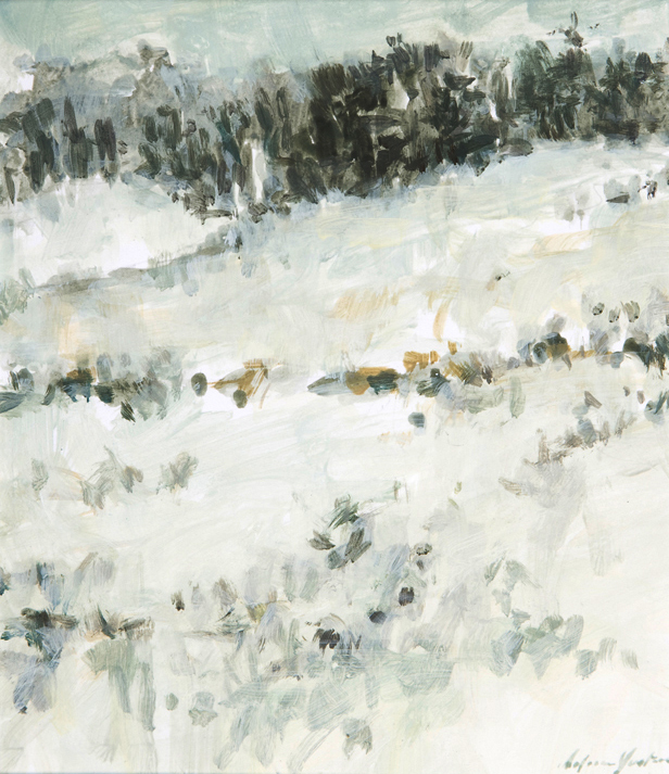 """Snow in the Treeline"" by Dolores Justus (c)2007"