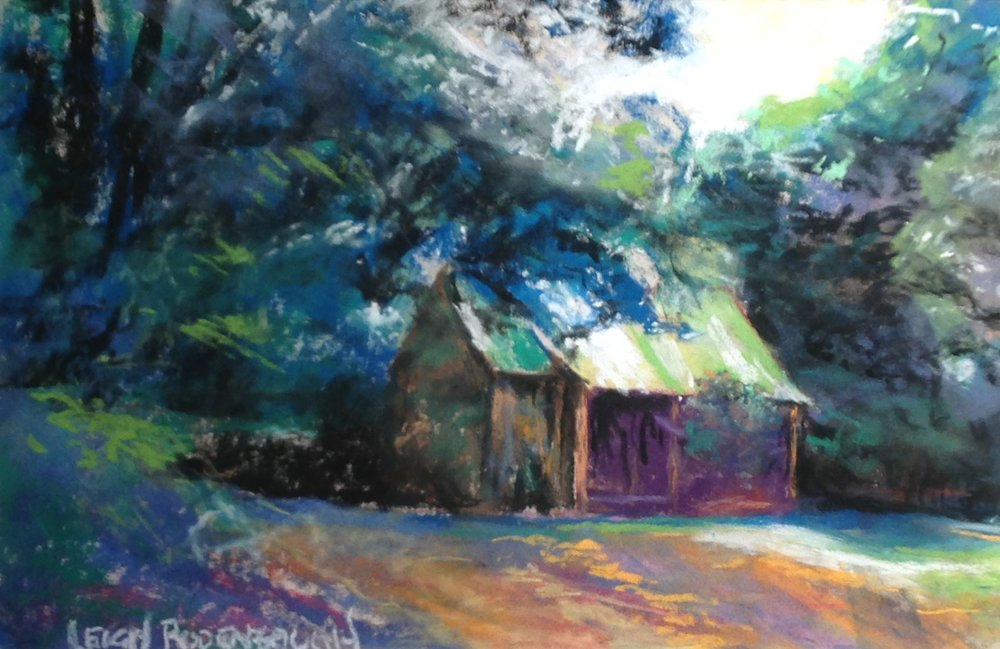 """Cabin in the Woods"" by Leigh Rodenbough"
