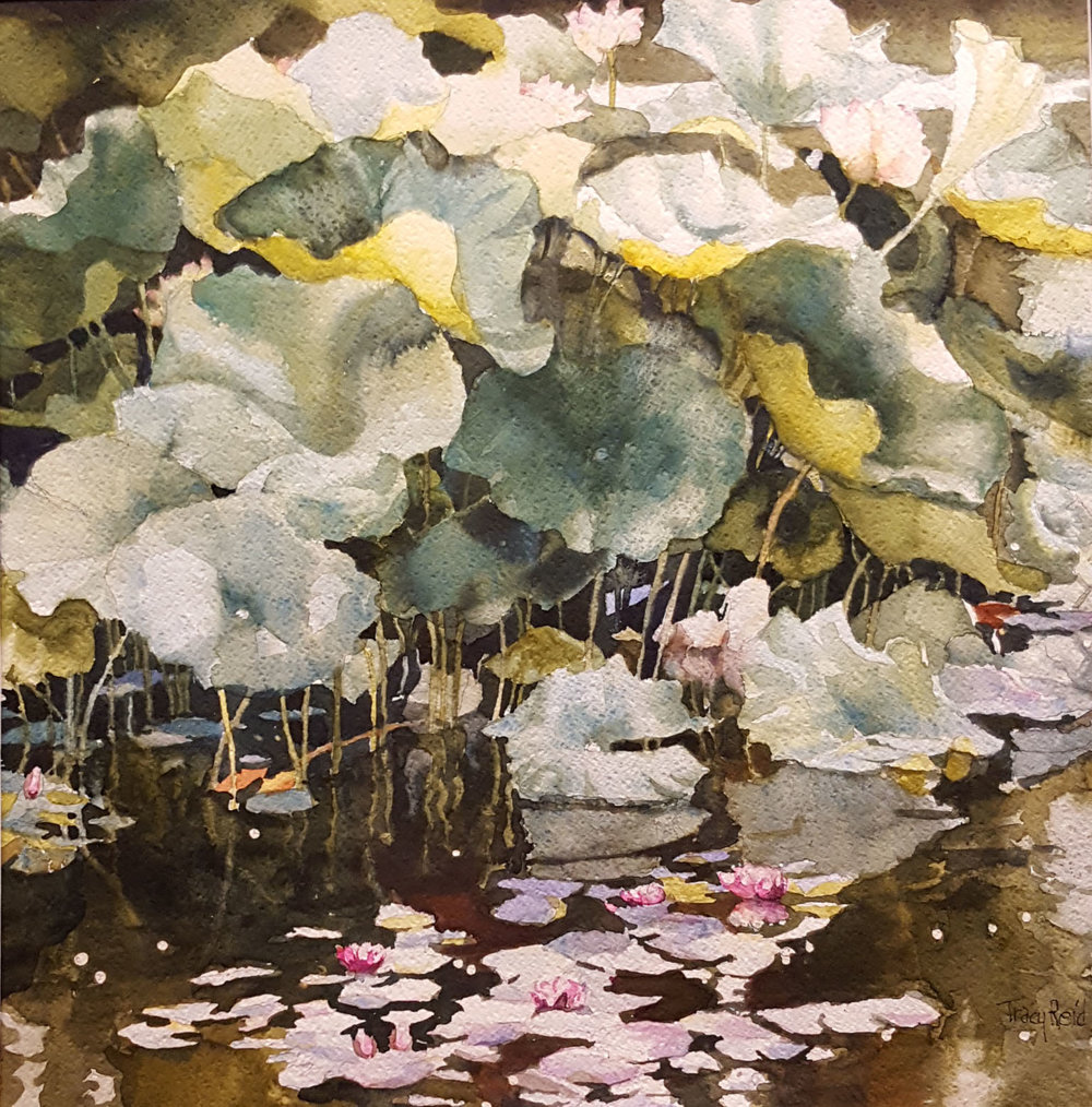 """Lotus and Water Lilies"" by Tracy Reid"