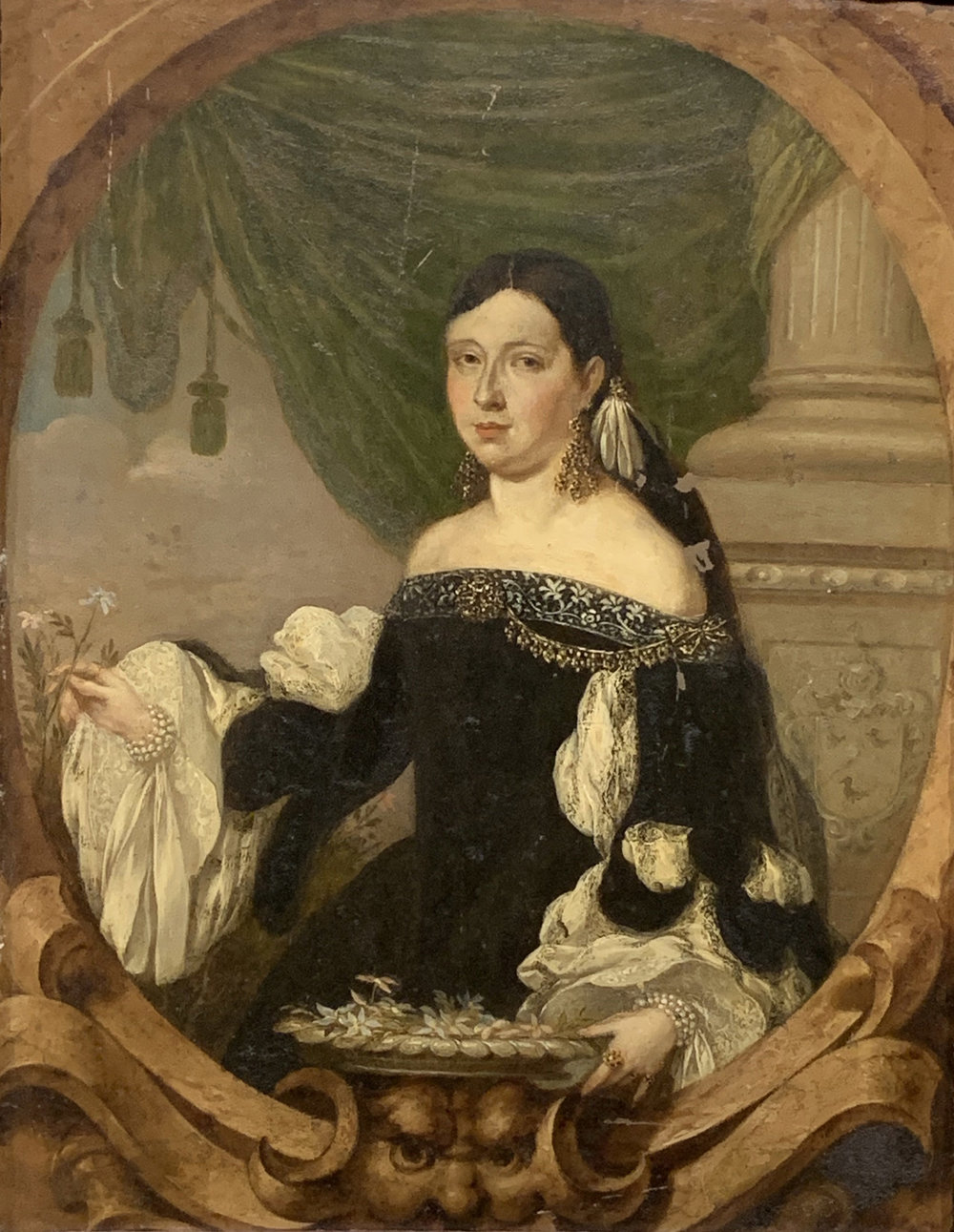 """Portrait of Ms. Rhys"" by Gonzales Coques (17th C)"