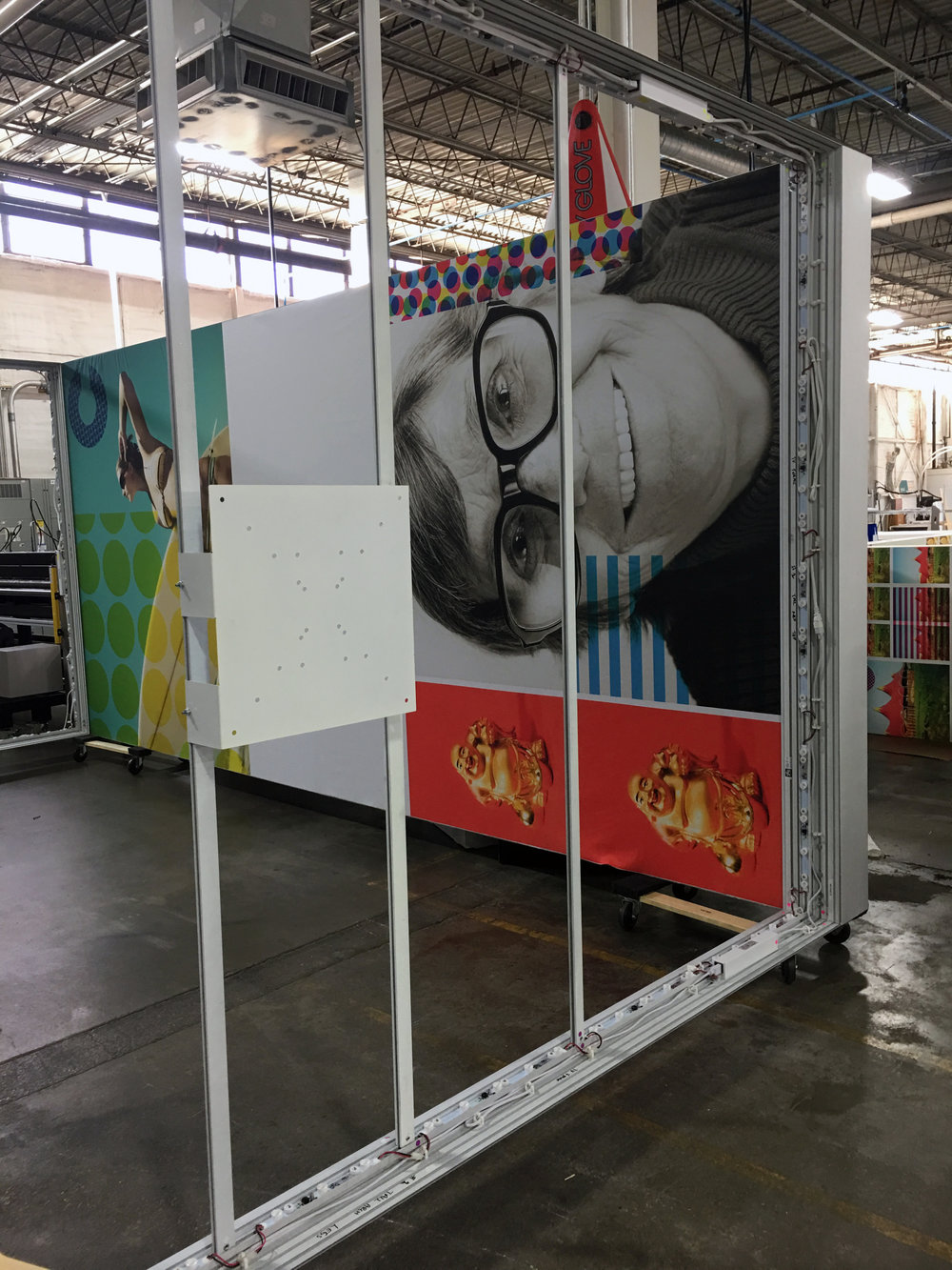 Constructing the Custom Color booth