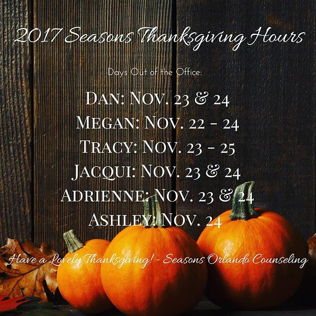 Holidays are coming! Here are our Thanksgiving hours 🍁🦃 #gobblegobble