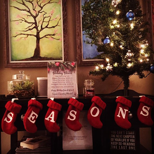 ''Tis the {SEASONS}! We're ready for the holidays 🎄❄️ #seasonscounseling #holidayready