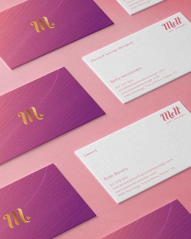 Business cards for Melt Spa + Massage. . . . . #brand #brandidentity #branding #logo  #designer #designers #creative #creatives #artist #artoftheday #picoftheday #digitalart #graphic #graphicart #graphics #stationery #diseñomexicano #businesscards #relaxing #businesscardsdesign