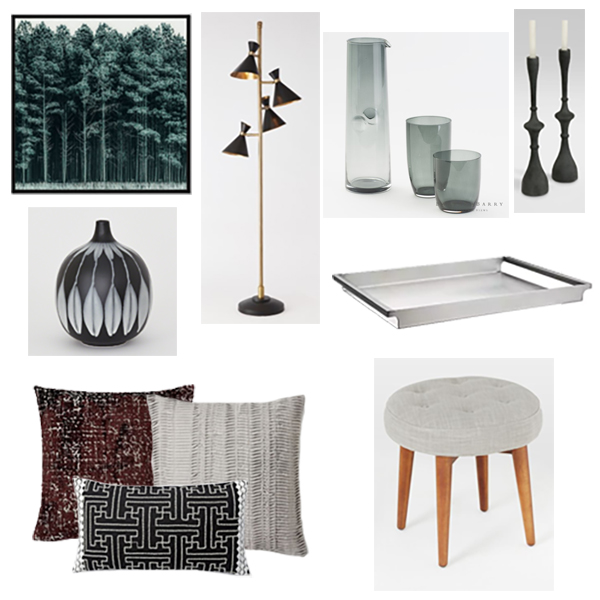 From a white and green bright color palette to a burgundy, grey and black color scheme with a hint of drama.
