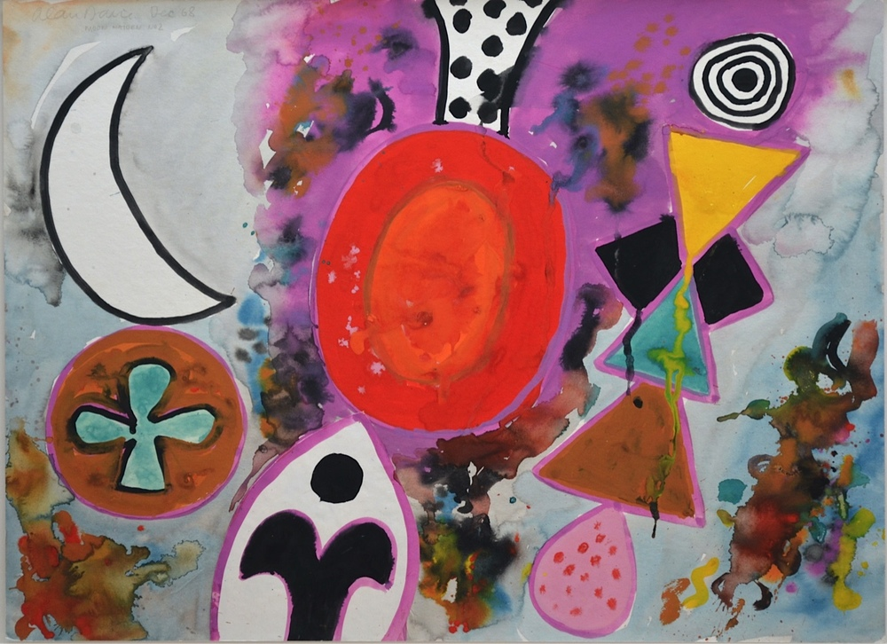 Alan Davie - Moon Maiden   Contact  http://www.moderncontemporaryart.co.uk/ for enquires
