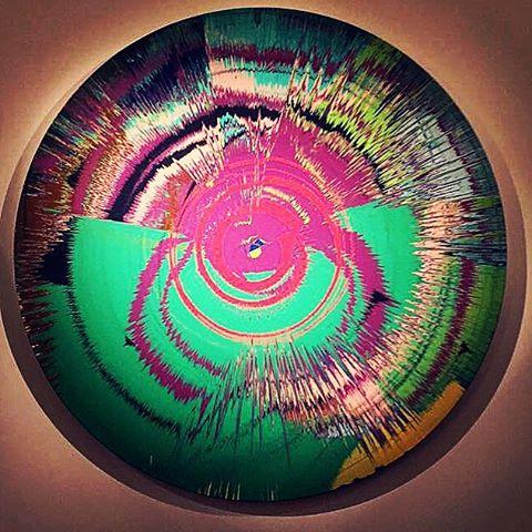Spin Bowie   Hirst #cotemporaryart #damienhirst #davidbowie #art